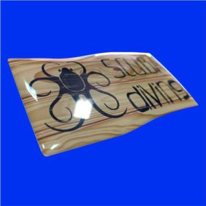 Scuba Diving Wood flag sticker